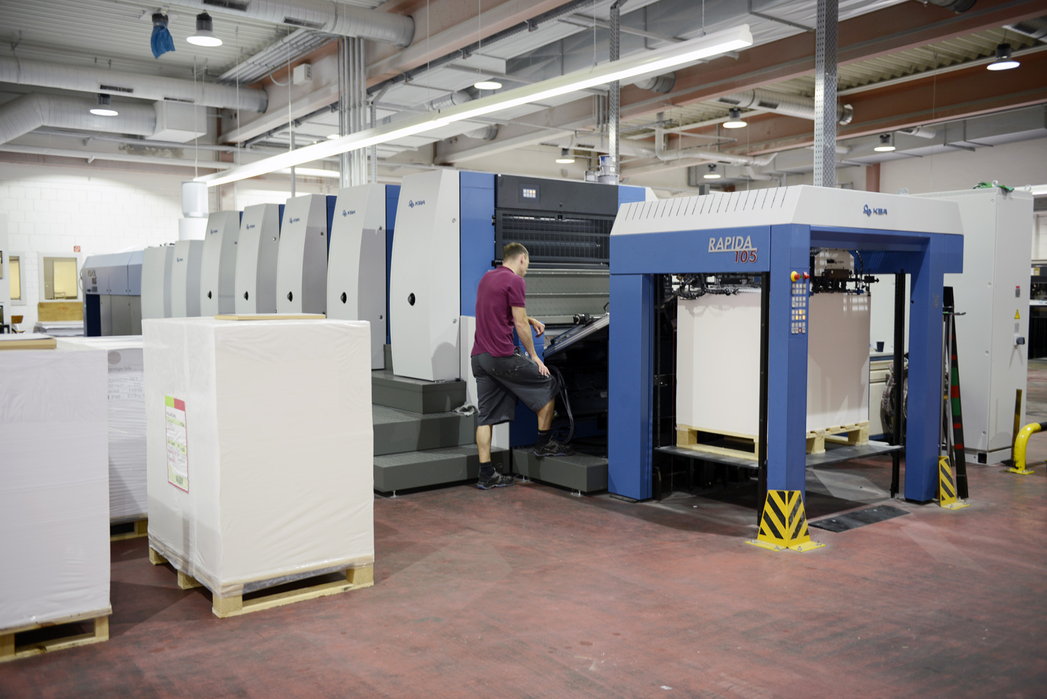 Further Kba Rapida 105 For The Postcard And Greeting Card Specialist